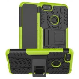 Rugged Kickstand Motorola Moto E6 Play Hoesje - Groen