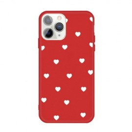 Hartjes TPU iPhone 11 Pro Max Hoesje - Rood