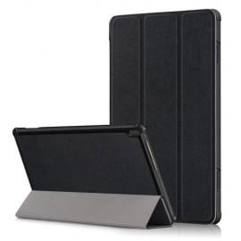 Tri-Fold Book Case Lenovo Tab M10 Hoesje - Zwart