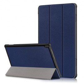 Tri-Fold Book Case Lenovo Tab M10 Hoesje - Donkerblauw