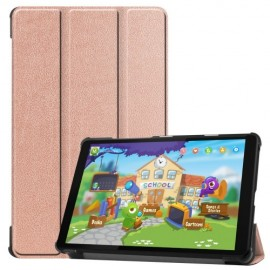 Tri-Fold Book Case Lenovo Tab M8 Hoesje - Rose Gold