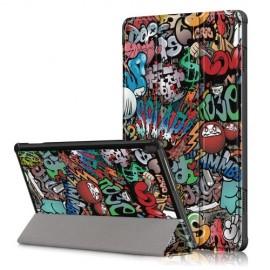 Tri-Fold Book Case Lenovo Tab M10 Hoesje - Graffiti