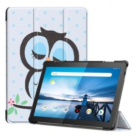 Tri-Fold Book Case Lenovo Tab M10 Hoesje - Groene Uil
