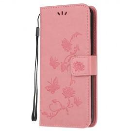 Bloemen Book Case Huawei P40 Lite Hoesje - Pink