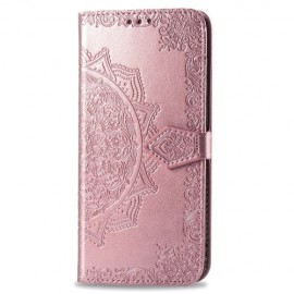 Bloemen Book Case Motorola Moto G8 Power Hoesje - Rose Gold