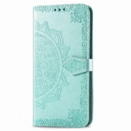 Bloemen Book Case Motorola Moto G8 Power Hoesje - Cyan