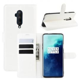 Book Case OnePlus 7T Pro Hoesje - Wit