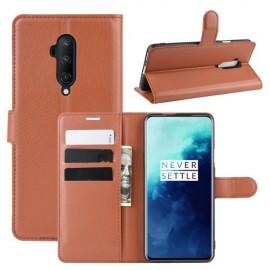 Book Case OnePlus 7T Pro Hoesje - Bruin