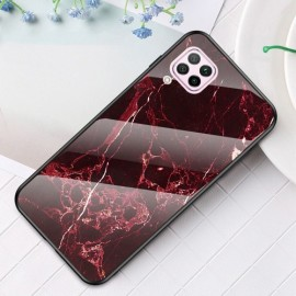 Marble Glass Cover Huawei P40 Lite Hoesje