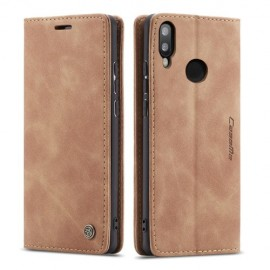 CaseMe Book Case Huawei P Smart (2019) Hoesje - Bruin