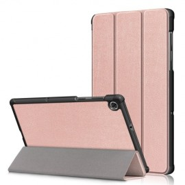 Tri-Fold Book Case Lenovo Tab M10 FHD Plus Hoesje - Rose Gold
