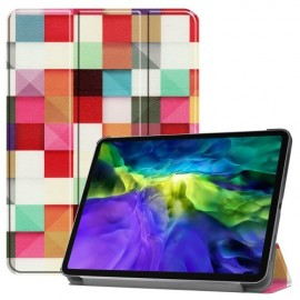 Tri-Fold Book Case iPad Pro 11 (2020) Hoesje - Colour Squares