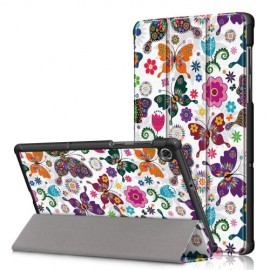Tri-Fold Book Case Lenovo Tab M10 FHD Plus Hoesje - Vlinders