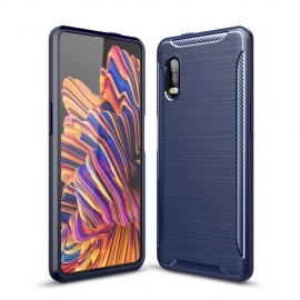 Armor Brushed TPU Samsung Galaxy Xcover Pro Hoesje - Blauw