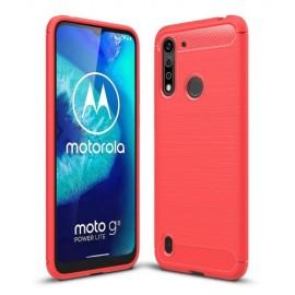 Armor Brushed TPU Motorola Moto G8 Power Lite Hoesje - Rood