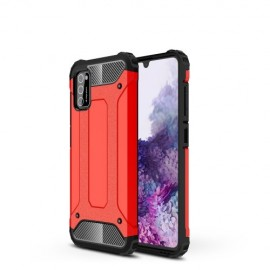 Armor Hybrid Samsung Galaxy A41 Hoesje - Rood