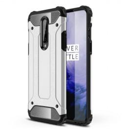 Armor Hybrid OnePlus 8 Hoesje - Zilver