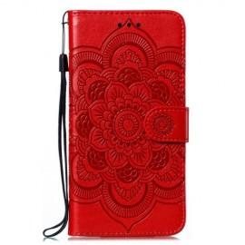 Bloemen Book Case Samsung Galaxy M21 Hoesje - Rood
