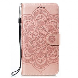 Bloemen Book Case Samsung Galaxy M21 Hoesje - Rose Gold
