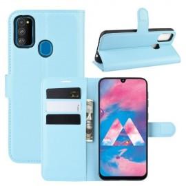 Book Case Samsung Galaxy M21 Hoesje - Lichtblauw