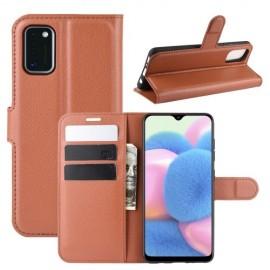 Book Case Samsung Galaxy A41 Hoesje - Bruin