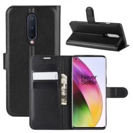 Book Case OnePlus 8 Hoesje - Zwart
