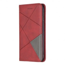 Geometric Book Case iPhone SE (2020) / 8 / 7 Hoesje - Rood