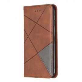 Geometric Book Case iPhone SE (2020) / 8 / 7 Hoesje - Donkerbruin