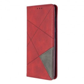 Geometric Book Case Samsung Galaxy A41 Hoesje - Rood