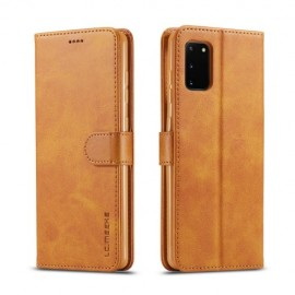 Luxe Book Case Samsung Galaxy A41 Hoesje - Bruin