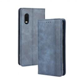 Vintage Book Case Samsung Galaxy Xcover Pro Hoesje - Blauw