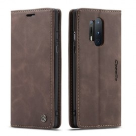 CaseMe Book Case OnePlus 8 Pro Hoesje - Donkerbruin