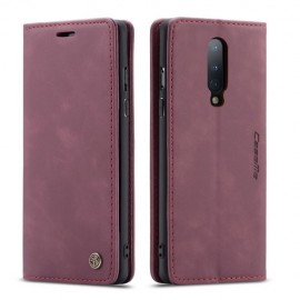 CaseMe Book Case OnePlus 8 Hoesje - Bordeaux