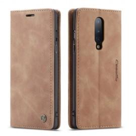 CaseMe Book Case OnePlus 8 Hoesje - Bruin