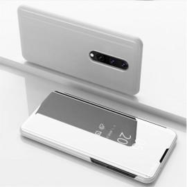 Mirror View Case OnePlus 8 Hoesje - Zilver