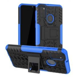 Rugged Kickstand Samsung Galaxy M21 Hoesje - Blauw