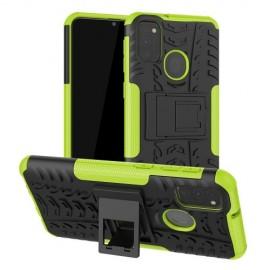 Rugged Kickstand Samsung Galaxy M21 Hoesje - Groen