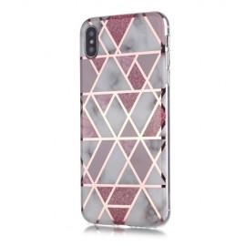 Marble Design TPU iPhone Xs / X Hoesje - Roze
