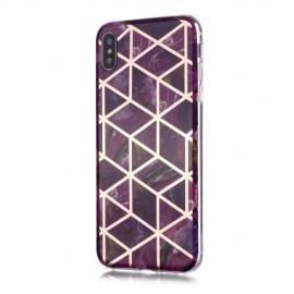 Marble Design TPU iPhone Xs / X Hoesje - Violet