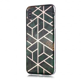 Marble Design TPU iPhone Xs / X Hoesje - Emerald Green