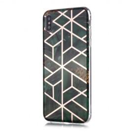 Marble Design TPU iPhone Xs / X Hoesje - Emerald Green