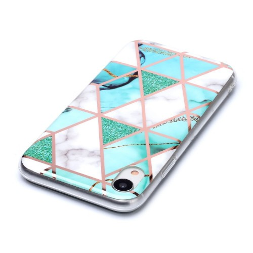 Marble Design TPU iPhone XR Hoesje - Mint