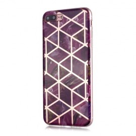 Marble Design TPU iPhone 8 Plus / 7 Plus Hoesje - Violet