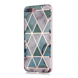 Marble Design TPU iPhone 8 Plus / 7 Plus Hoesje - Mint