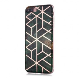 Marble Design TPU iPhone 8 Plus / 7 Plus Hoesje - Emerald Green