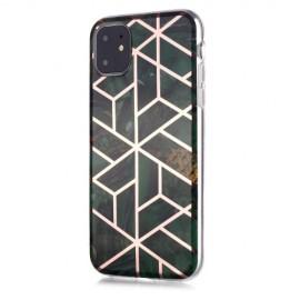 Marble Design TPU iPhone 11 Hoesje - Emerald Green