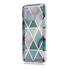 Marble Design TPU Samsung Galaxy A20e Hoesje - Mint