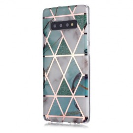 Marble Design TPU Samsung Galaxy S10 Plus Hoesje - Mint