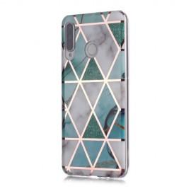 Marble Design TPU Huawei P30 Lite Hoesje - Mint