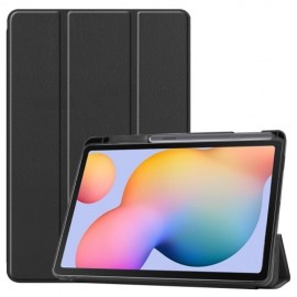 Tri-Fold Book Case Samsung Galaxy Tab S6 Lite Hoesje - Zwart